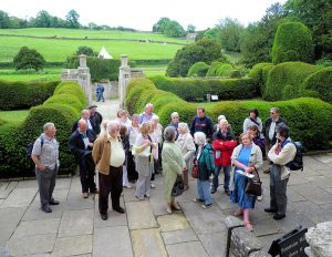 The coach party from Brindle at Fountains Abbey