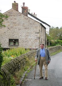 Ralph Power outside his home in Brindle, 2007