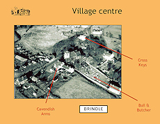 A slide from the presentation: Pubs in Brindle Village Centre around 1960
